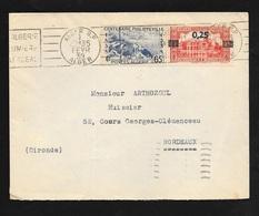 Algérie Lettre Alger Le 01/02/1939 Pour Bordeaux Le 04/02/1939  N°143 Et 148 Flamme Visitez L'Algérie  B/TB - Briefe U. Dokumente