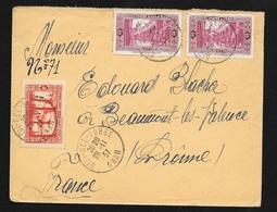 Algérie Lettre Sidi Bel Abbes Le 28/11/1937 Pour Beaumont Les Valence Les N° 108 X2 Et 106  B/TB - Briefe U. Dokumente