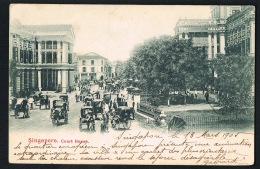 SINGAPOUR -  Court House - Original CPA - Voyagée 1905 - Recto Verso- Paypal Sans Frais - Singapour