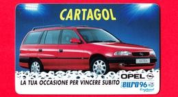 Italia - 1996 - Tessera Plastificata - Cartagol  - OPEL - Automobili