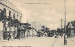 Bresil . N° 47465 . Avenida 16 De Novembro.hotel America.tramway . Editores Tavares Cordoso.para - Belém