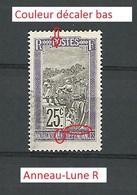 Variétés 1922 N° 134 MADAGASCAR ET DEPENDANTES RF 25C OBLIT - Madagascar (1889-1960)