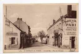 - CPA SAINT-GERMAIN-DES-FOSSES (03) - Grande-Rue 1933 - Place De L'Ormeau (HOTEL) - Edition Idéal 1564 - - France