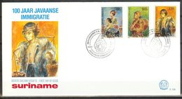 Mel138b 100 JAAR JAVAANSE IMMIGRATIE IMMIGRATION SURINAME 1990 FDC # - Suriname