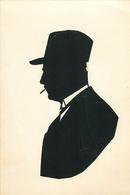 CARTE SILHOUETTE - FORMAT (11 X 16 Cm) - CACHET SIGNATURE; Victor DUBUIT Au Dos. - Silhouettes