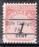 USA Precancel Vorausentwertung Preo, Locals Pennsylvania, State College 841 - Vereinigte Staaten