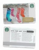 Starbucks Card - Canada - Christmas Socks - 6113 Mint Pin - Gift Cards