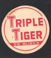 OUD Bierviltje - Sous-bock - Bierdeckel : TRIPLE TIGER - DE BLIECK  (B 332) - Bierdeckel