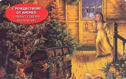 GREECE - Russian Christmas , AMIMEX Promotion Prepaid Card ,5 Min, Mint - Greece