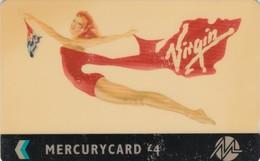 Mercury, MER493, Virgin Atlantic, Airlines, Woman, 2 Scans.  20MERD/W - United Kingdom