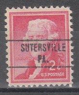 USA Precancel Vorausentwertung Preo, Locals Pennsylvania, Sutersville 748 - Vereinigte Staaten