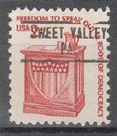 USA Precancel Vorausentwertung Preo, Locals Pennsylvania, Sweet Valley 748 - Vereinigte Staaten