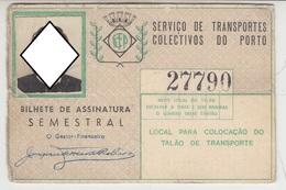 Season Ticket * Passe * Portugal * STCP - Europe