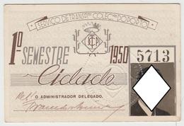 Season Ticket * Passe * Portugal * STCP * 1950 - Europe