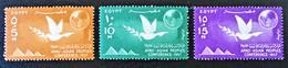 CONFERENCE DES PEUPLES AFRO-ASIATIQUES 1959 - NEUFS ** - YT 410/12 - MI 522/24 - Egypt