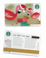 Starbucks Card - Canada - Flamingos - 6112 Mint Pin - Gift Cards
