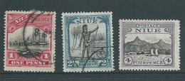 Niue 1925 1d & 2&1/2d FU , 4d Mint - Niue