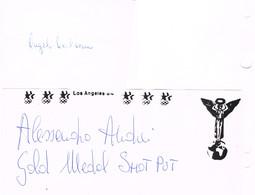 AUTOGRAPHES - JEUX OLYMPIQUES - ITALIE - ARCIDIACONO - ESCRIME - ANDREI - ATHLETISME - - Autographs