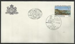 REPUBBLICA DI SAN MARINO 1980 MOSTRA DEL FRANCOBOLLO EUROPA A NAPOLI LIRE 170 FDC - FDC