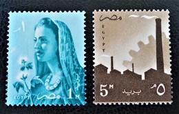 SERIE COURANTE 1958 - NEUFS ** - YT 413/14 - MI 525 + 527 - Egypt