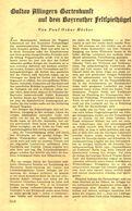Gustav Allingers Gartenkunst Auf Dem Bayreuther Festspielhuegel)  / Artikel, Entnommen Aus Zeitschrift /1942 - Books, Magazines, Comics