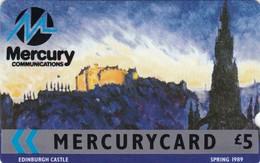 Mercury, MER020, Sights Of The UK, Edinburgh Castle (Spring 1989), Unused, 2 Scans    8MERA - United Kingdom