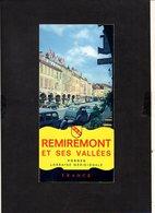 1960 Environs / Vosges / Dépliant Touristique De Remiremont Et Ses Vallées / 2CV Citroën,juvaquatre,simca Etc. - Tourism Brochures