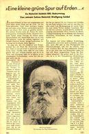 Eine Kleine Gruene Spur Auf Erden ..(Zu Heinrich Seidels 100.Geburtstag)   / Artikel, Entnommen Aus Zeitschrift /1942 - Books, Magazines, Comics