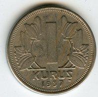 Turquie Turkey 1 Kurus 1937 KM 861 - Turkey