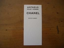 Carte Chanel Antaeus Canadienne - Perfume Cards