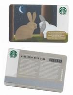 Starbucks Card - Canada - Bunnies - 6113 Mint Pin - Gift Cards