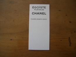 Carte Chanel Egoiste Platinum Canadienne - Perfume Cards