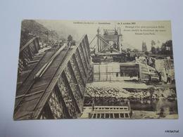 SARRAS-Inondations Du 8 Octobre 1907-Montage D'un Pont Provisoire Eiffel Devant établir La Circulation Des Trains Nimes- - Otros Municipios