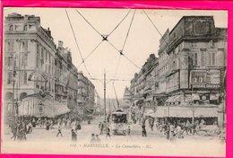 Cpa  Carte Postale Ancienne  - Marseille La Cannebiere - Marsella