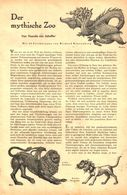 Der Mythische Zoo  / Artikel, Entnommen Aus Zeitschrift /1942 - Books, Magazines, Comics