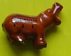 Fève  - Les  Hippos Décos  - Hippopotame  Marron  - Réf AFF 2013 111 - Animals