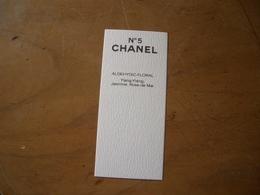 Carte Chanel N°5 Canadienne - Perfume Cards