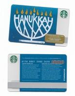 Starbucks Card - Canada - Hanukkah - 6118 Mint Pin - Gift Cards