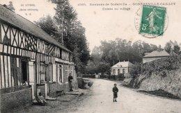 CPA   76   GONFREVILLE-CAILLOT---ENTREE DU VILLAGE---1912 - Frankrijk