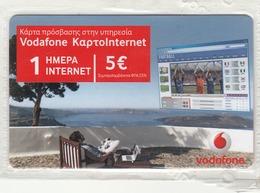 GREECE - Vodafone 1 Day Internet, GSM Recharge Card, Mint - Greece