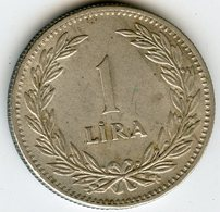 Turquie Turkey 1 Lira 1947 Argent KM 883 - Turquia