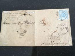 Luxembourg Lettre Devant Avec No 19 - 1859-1880 Coat Of Arms