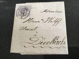Luxembourg Lettre Avec No 17 Diekirch - 1859-1880 Armoiries