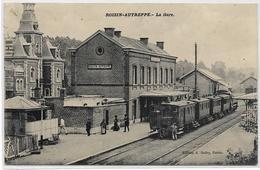 ROISIN-AUTREPPE : La Gare (Superbe Animation - Train, Personnel - Voyageurs...) - Gares - Avec Trains