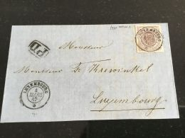 Luxembourg Lettre Non-complète Avec No 17 - 1859-1880 Coat Of Arms