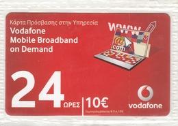 GREECE - Vodafone 24 Hours Internet, GSM Recharge Card, Mint - Greece