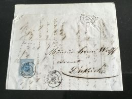 Luxembourg Lettre Avec No 6 Diekirch - 1859-1880 Armoiries
