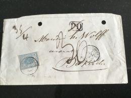 Luxembourg Lettre Avec No 6 Pour Diekirch - 1859-1880 Coat Of Arms