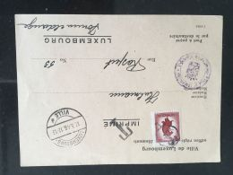 Luxembourg Carte 1946 Taxe - Luxemburg