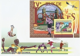 Guinea 2007, Olympic Games 2 In London, Athletic, Boxing, Diana, BF In FDC - Summer 1908: London